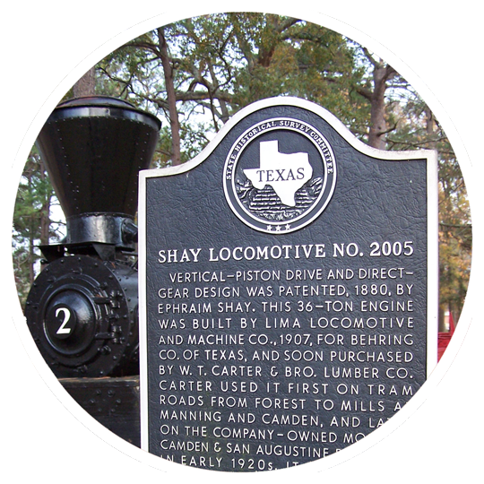 Shay Locomotive at Stephen F. Austin State University